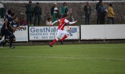 Julián Luque en su último partido con el Racing. Foto: Arturo Herrera.