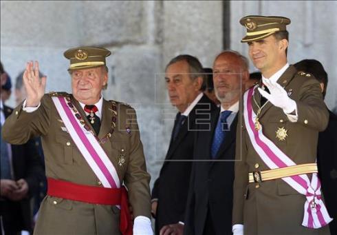 Juan Carlos y Felipe VI en la gala