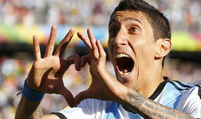 Ángel Di María celebra el gol (Foto: EFE/Reuters)