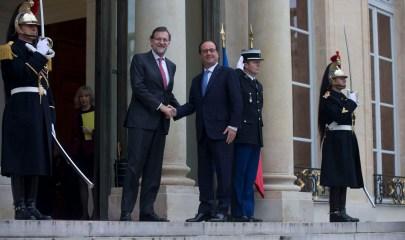 El Presidente del Gobierno, recibido por François Hollande en la XXIV Cumbre Franco-Española