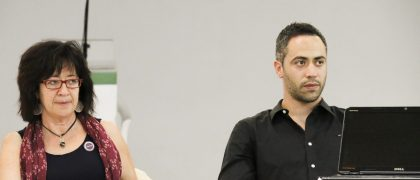 Ana Ramírez y Sergio Valcárcel durante la charla