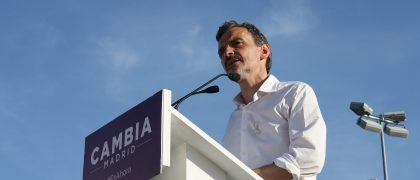 José Manuel López durante su discurso