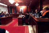 Los representantes municipales, en un pleno el pasado febrero