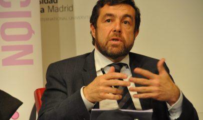 Miguel Gutierrez representantes Ciudadanos durante el debate de la UEM
