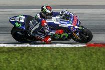 AY12. Sepang (Malaysia), 01/02/2016.- Spanish MotoGP rider, Jorge Lorenzo of Movistar Yamaha MotoGP in action during a pre-season test at Sepang International Circuit near Kuala Lumpur, Malaysia, 01 February 2016. (Motociclismo, Malasia) EFE/EPA/AHMAD YUSNI