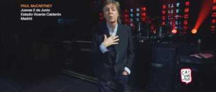 "Paul McCartney presenta en Madrid su gira ""ONE ONE ONE"""