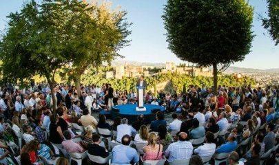 Mariano Rajoy durante el mitin en Granada. Foto: www.pp.es