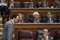 Antonio Hernández al finalizar su discurso de investidura