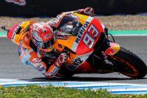 GRAF309. JEREZ DE LA FRONTERA, 06/05/2018.- .El piloto español de Moto GP, Marc Márquez de (Repsol Honda) liderando la carrera en el Gran Premio de España correspondiente a la categoría de MotoGP disputado hoy en el circuito de Jerez de la Frontera. EFE/Román Ríos