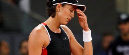 GRAF3192. MADRID, 09/05/2018. La tenista Garbiñe Muguruza en su partido de tercera ronda frente a la rusa Daria Kasatkina durante el Mutua Master de Madrid que se celebra en las instalaciones de la Caja Mágica. EFE / Juanjo Martín.
