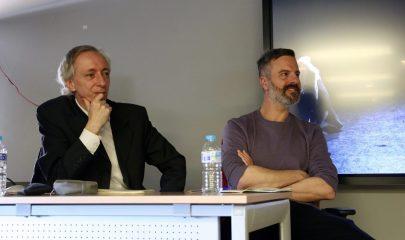 Bruno Dozza y Antonio Ruz en una charla de la semana de la comunicación 2019.