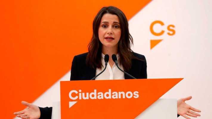 Inés Arrimadas en su declaración sobre El Feminismo // Imagen por RTVE