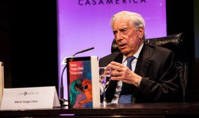 Mario Vargas Llosa durante la presentación de su libro en Casa América el pasado 8 de octubre. Hodei Ontoria.