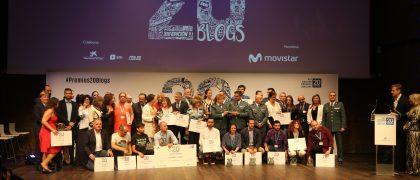 Premiados XIII Gala 20Blogs. Fotografía: Hodei Ontoria