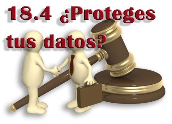 18.4 ¿Proteges tus datos?