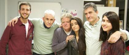 El equipo de La Espumilla con sus padrinos