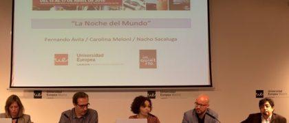 Fernando Ávila, Carolina Meloni y Nacho Sacaluga (en el centro)