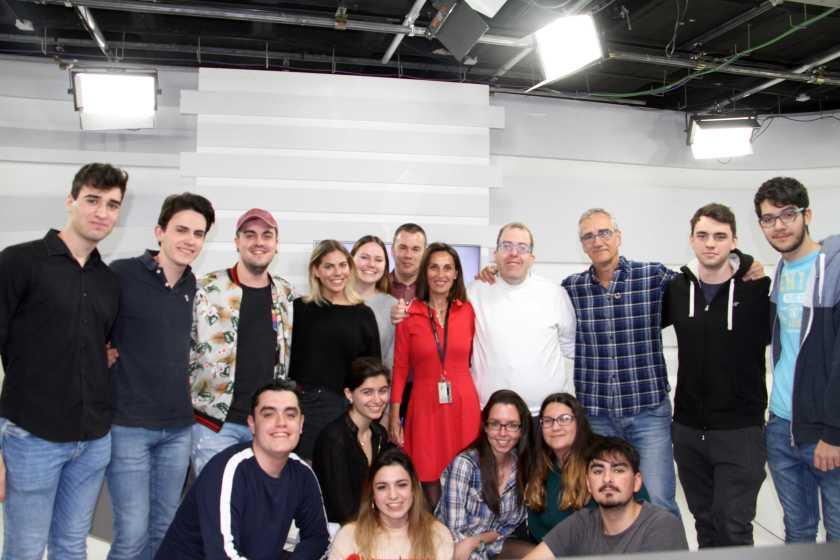 Campeones en el plató de Europea Media