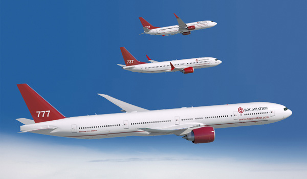 BOC Aviation Boeing 777-300ER, 737 MAX-8 and 737-800