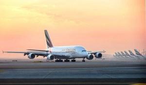 Emirates Airbus A380 at Dubai