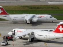 Swiss Avro RJ100 at Zurich Airport