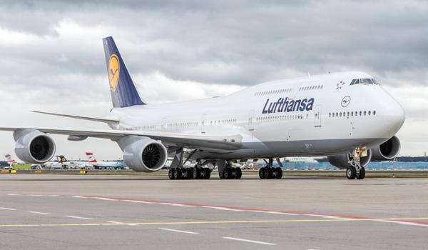 Lufthansa Boeing 747-8 Intercontinental at Frankfurt Airport