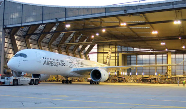 Airbus A350 XWB at Lufthansa Technik facility