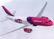 Wizz Air Airbus A320 in flight
