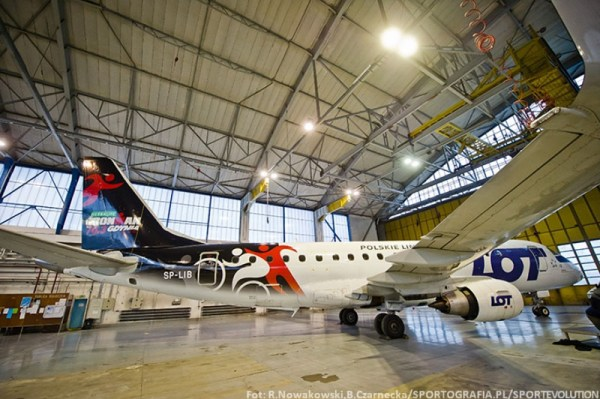 LOT Embraer 175 Ironman livery