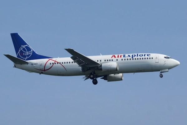 Air Explore Boeing 737-400 (© O. Pritzkow)
