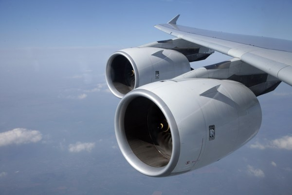Rolls-Royce Trent 900 engines on an Airbus A380 (© Rolls-Royce)