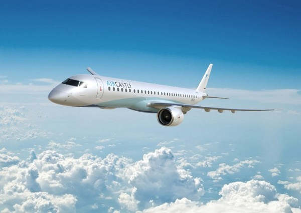 Embraer E2 in the livery of Aircastle (© Embraer)