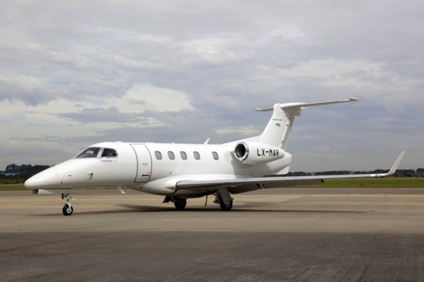 Embraer Phenom 300 of Luxaviation (© Embraer)
