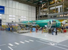 Endmontage der ersten Boeing 737 MAX in Renton (© Boeing)