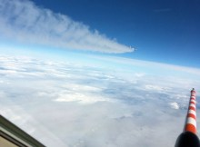 Verfolgung des A320 ATRA mit der Falcon (© DLR)