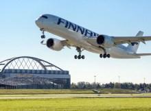 Finnair Airbus A350 XWB am Flughafen Hamburg (© LH Technik)