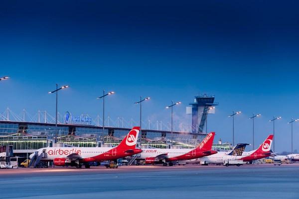 Blick auf das Vorfeld des Flughafens Nürnberg (© NUE)