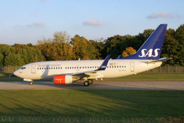 Boeing 737-700 der SAS (© O. Pritzkow)