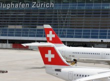 Flugzeuge der Swiss am Zürich Airport (© O. Pritzkow)