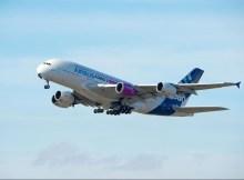Rolls-Royce Trent XWB 97 an einem Airbus A380 (© Airbus)