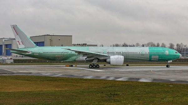 Für Swiss bestimmte Boeing 777-300ER (© S.Lüthi, twitter)