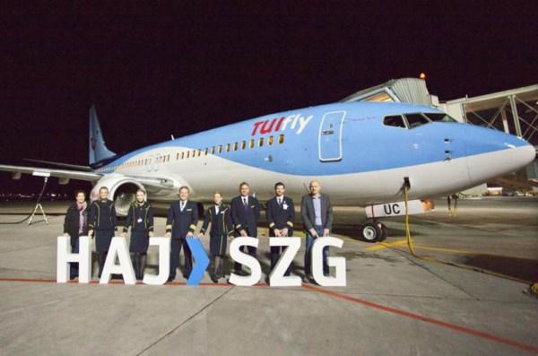 Eröffnung der TUIfly-Route Hannover - Salzburg am 19.12.2015 (© HAJ Airport)