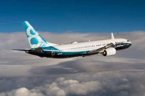 Boeing 737 MAX im Flug (© Boeing)