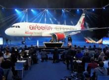 Pressekonferenz der Air Berlin und der Etihad im Januar 2014 (© O. Pritzkow)