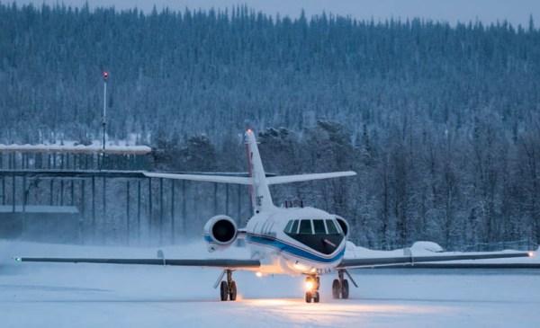 Falcon beim Start in Kiruna (© DLR)