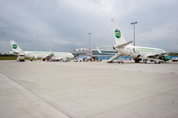 Flugzeuge der Germania am Flughafen Kassel (© Kassel Airport)