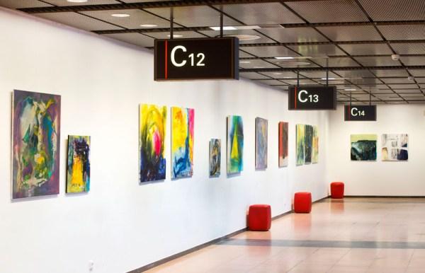 Regionale Kunst am Gate (© Hamburg Airport)