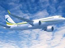 Airbus ACJ320neo in den Farben der Comlux (© Airbus)
