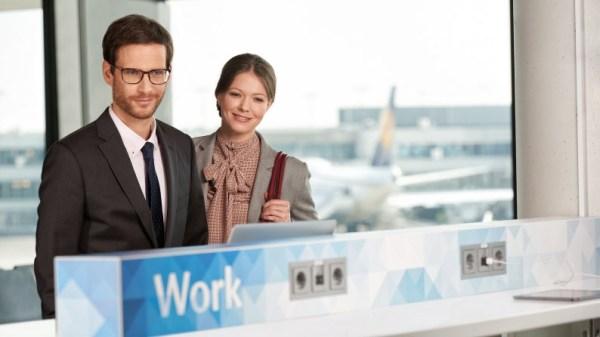 Workbench am Gate in Frankfurt (© Fraport)