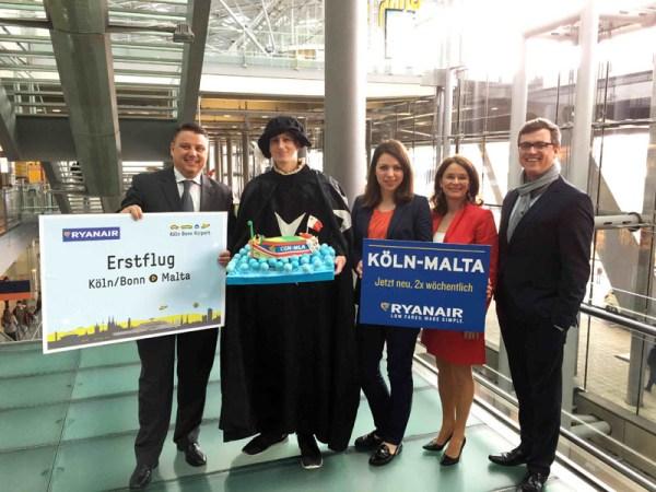 Eröffnung der Ryanair-Route Köln-Malta (© Ryanair)